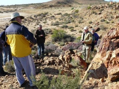 Dr Rien Habermehl describes the fault-line at Finniss Springs