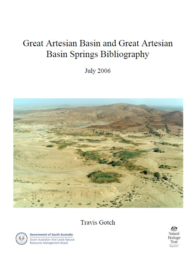 Great Artesian Basin Springs Bibliography