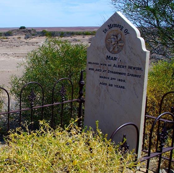 Mound Springs Walk, Strangways Springs cemetery