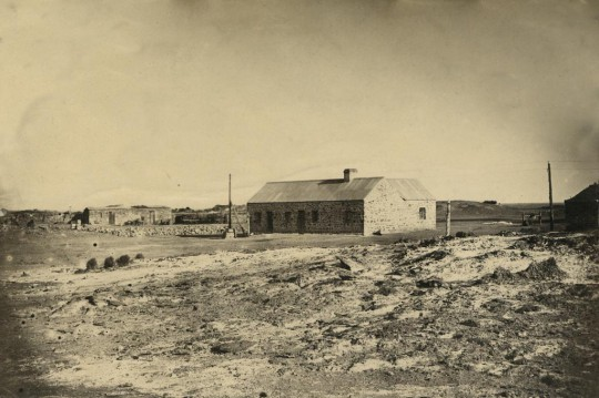 Strangways Spring Station, 1876. This property was both a pastoral run and a Telegraph Repeater Station.